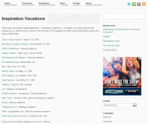 List of Inspiration Vacation